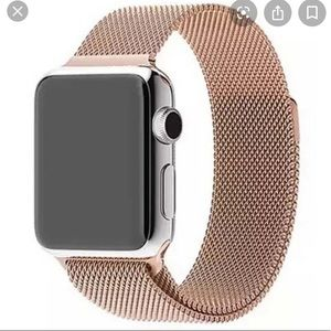 Accessories - Rose gold magnetic apple watch band